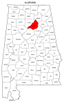 Map of Alabama highlighting Blount county, pattern, stencil, template, svg.