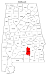 Map of Alabama highlighting Crenshaw county, pattern, stencil, template, svg.