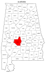 Map of Alabama highlighting Dallas county, pattern, stencil, template, svg.