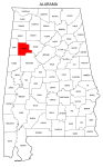 Map of Alabama highlighting Fayette county, pattern, stencil, template, svg.