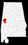 Map of Alabama highlighting Greene county, pattern, stencil, template, svg.