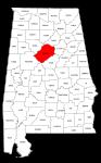 Map of Alabama highlighting Jefferson county, pattern, stencil, template, svg.