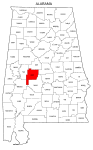 Map of Alabama highlighting Perry county, pattern, stencil, template, svg.