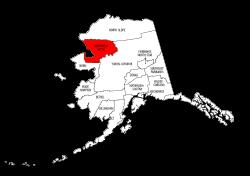 Map of Alaska highlighting Northwest Arctic county, pattern, stencil, template, svg.