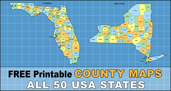 USA County Maps (Printable State Maps with County Lines)