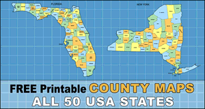 USA County Maps