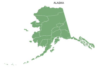 Free Alaska county map, printable, state, outline, shape, county lines, pattern, template, download.
