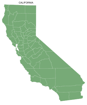 Free California county map, printable, state, outline, shape, county lines, pattern, template, download.