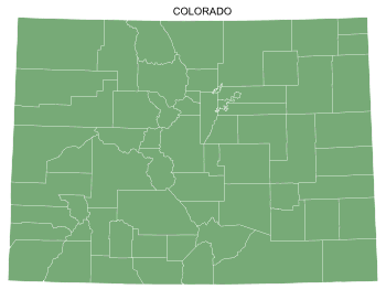 Free Colorado county map, printable, state, outline, shape, county lines, pattern, template, download.