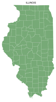 Free Illinois county map, printable, state, outline, shape, county lines, pattern, template, download.