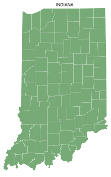 Free Indiana county map, printable, state, outline, shape, county lines, pattern, template, download.