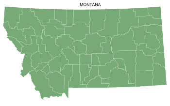 Free Montana county map, printable, state, outline, shape, county lines, pattern, template, download.