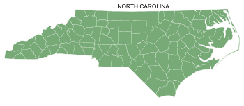 Free North Carolina county map, printable, state, outline, shape, county lines, pattern, template, download.