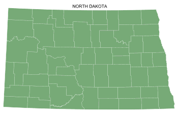 Free North Dakota county map, printable, state, outline, shape, county lines, pattern, template, download.