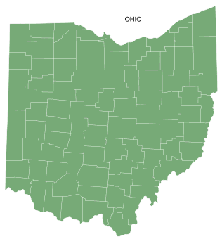 Free Ohio county map, printable, state, outline, shape, county lines, pattern, template, download.