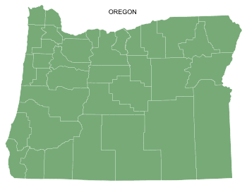 Free Oregon county map, printable, state, outline, shape, county lines, pattern, template, download.
