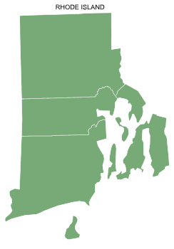 Free Rhode Island county map, printable, state, outline, shape, county lines, pattern, template, download.