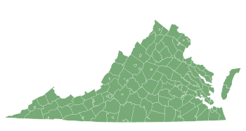 Free Virginia county map, printable, state, outline, shape, county lines, pattern, template, download.