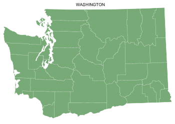 Free Washington county map, printable, state, outline, shape, county lines, pattern, template, download.