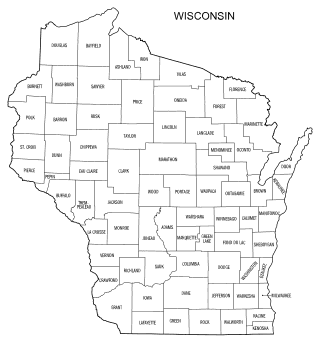 Free printable Wisconsin map with county lines, state, outline, printable, shape, template, download.