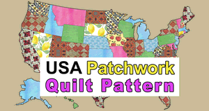 USA Patchwork Quilt Pattern.