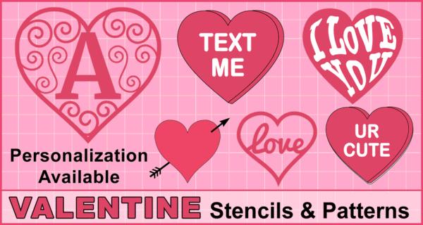 Valentine's Day Clip Art (Heart Stencils & Patterns)