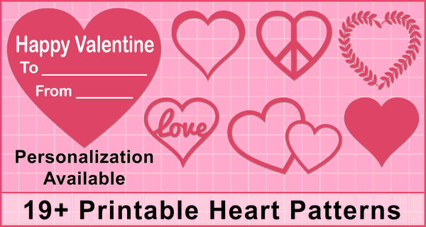 Heart Patterns (Free Printable Valentines Day Clip Art)