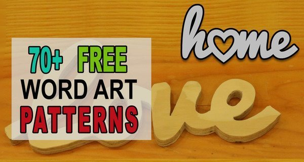 Word Art Patterns, Templates, Stencils, FREE Printable Designs