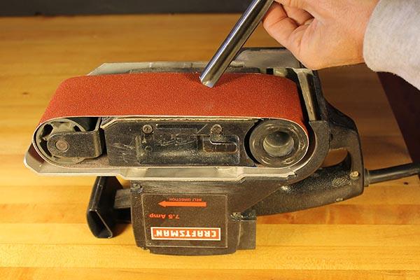 Craftsman belt sander upside down.