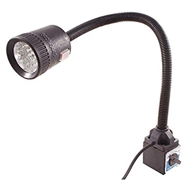 LED light with flexible neck and magnetic base.