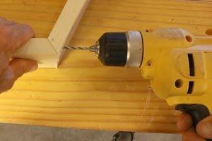 Pre-drill screw holes.