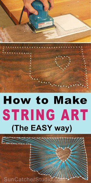 Learn how to create string art by following these easy, DIY, beginner step-by-step instructions.  Makes a great kid project or family project.