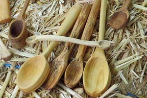 Carve wooden spoons.