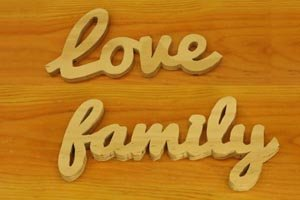 love family word art project scroll saw band saw
