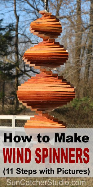 How to Make Wind Spinners (11 Steps with Pictures). Great for the garden, backyard, or present. Easy beginner DIY woodworking project.
