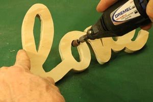 Dremel: power sanding pattern.