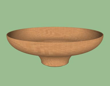 Bowl concave convex woodturning form design shape pattern 3D.