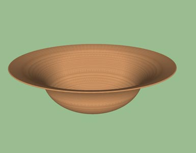 Bowl convex concave woodturning form design shape pattern 3D.