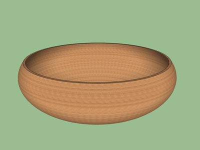 Bowl open woodturning form design shape pattern 3D.
