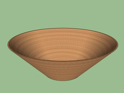 Bowl straight sides woodturning form design shape pattern 3D.
