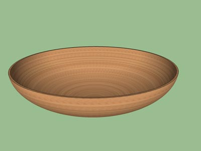 Bowl woodturning form design shape pattern 3D.