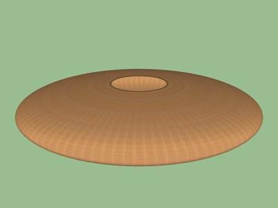 Hollow form slim ellipsoid woodturning design shape pattern 3D.