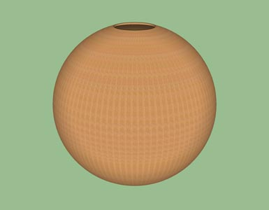 Hollow form globe sphere woodturning design shape pattern 3D.