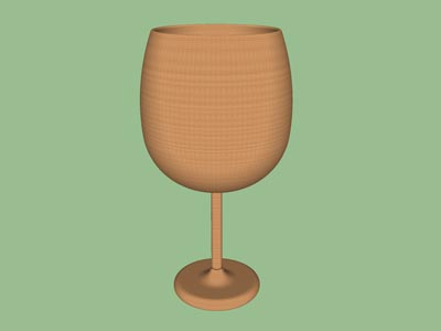 Goblet chalice woodturning form design shape pattern 3D.