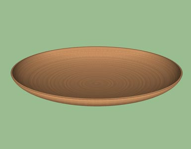 Platter woodturning form design shape pattern 3D.