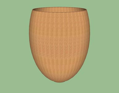 Vase Southwestern design woodturning hollow form design shape pattern 3D.