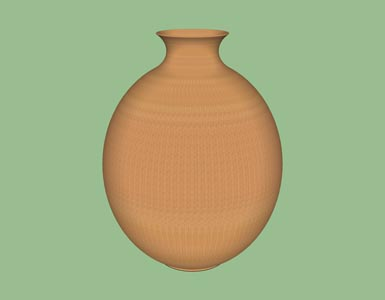 Hollow form vessel woodturning design shape pattern 3D.