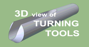3D Animation of Turning Tools.