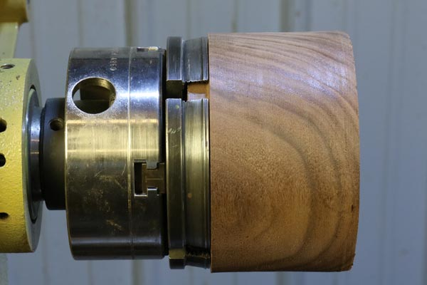 Step 7. Grip the tenon using a scroll chuck.