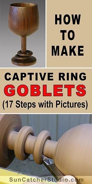 Learn How to Turn a Goblet with Captives Rings. This fun woodturning project makes a great wedding present.